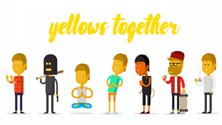 Yellows together